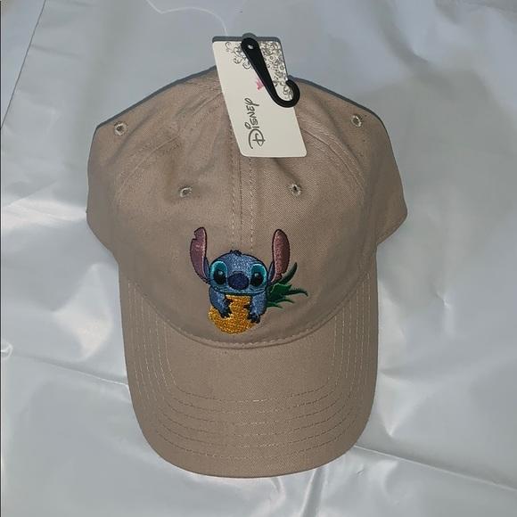 "Disney Accessories - Disney ""PINEAPPLE STITCH"" TAN DAD HAT"